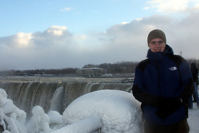 Rob enjoying Niagara Falls - Niagara Falls, ON ... December 22, 2008 ... Photo by Emily Page