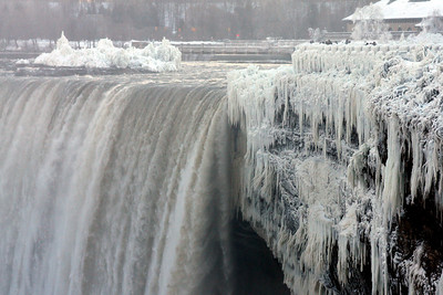 Niagara Falls with its self created icefalls - Niagara Falls, ON ... December 22, 2008 ... Photo by Rob Page III