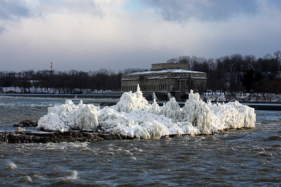 The plants on the island above Niagara Falls are frozen from the mist - Niagara Falls, ON ... December 22, 2008 ... Photo by Rob Page III