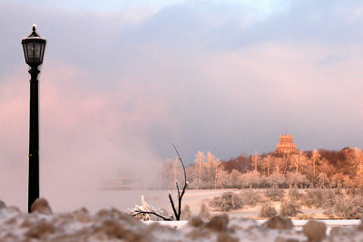 A glowing winterland - Niagara Falls, ON ... December 22, 2008 ... Photo by Emily Page