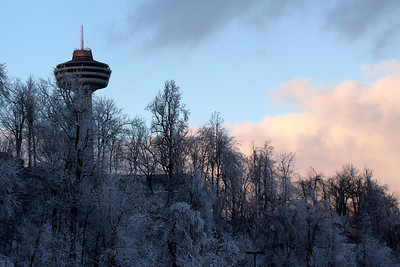 The Skylon Tower that overlooks the falls - Niagara Falls, ON ... December 22, 2008 ... Photo by Rob Page III