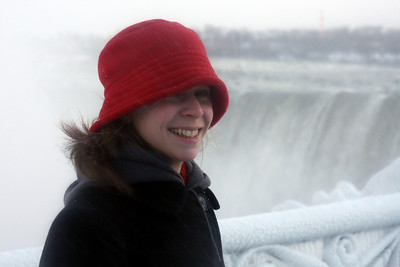 Emily enjoying Niagara Falls - Niagara Falls, ON ... December 22, 2008 ... Photo by Rob Page III