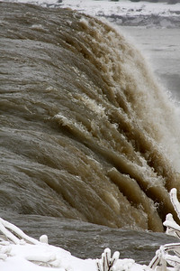 The crest of the American Falls - Niagara Falls, NY ... December 23, 2008 ... Photo by Rob Page III