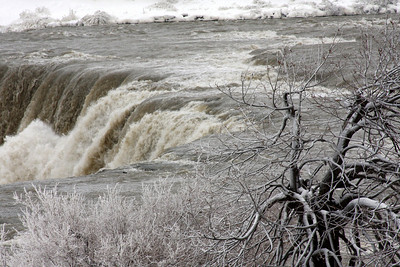 The top of the American Falls - Niagara Falls, NY ... December 23, 2008 ... Photo by Rob Page III