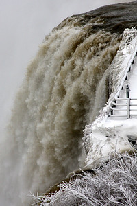 The American Falls up close - Niagara Falls, NY ... December 23, 2008 ... Photo by Rob Page III