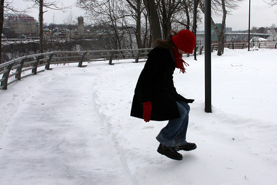 Emily enjoying the snow - Niagara Falls, NY ... December 23, 2008 ... Photo by Rob Page III
