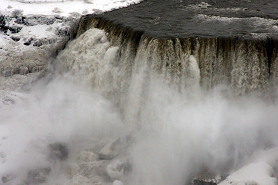 The top of the American Falls - Niagara Falls, ON ... December 23, 2008 ... Photo by Rob Page III