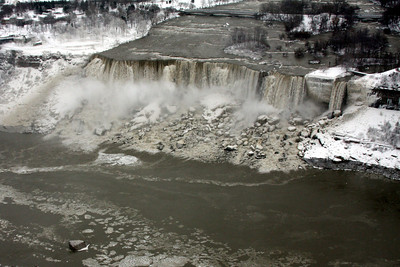 The American Falls - Niagara Falls, ON ... December 23, 2008 ... Photo by Rob Page III