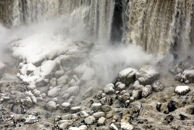 Water crashes on to the rocks below - Niagara Falls, ON ... December 23, 2008 ... Photo by Rob Page III