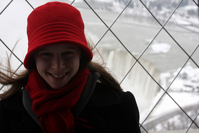 Emily on top of the Skylon Tower - Niagara Falls, ON ... December 23, 2008 ... Photo by Rob Page III