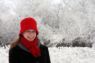 Emily enjoying the cold - Niagara Falls, NY ... December 23, 2008 ... Photo by Rob Page III
