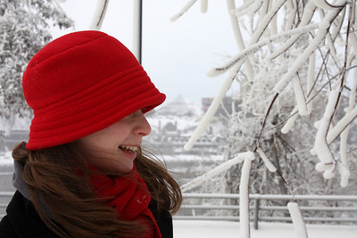 Emily enjoying the wintery weather - Niagara Falls, NY ... December 23, 2008 ... Photo by Rob Page III