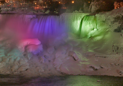Niagara Falls at Night from Canadian Side