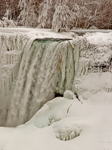 Ice Formations At Niagara Falls, New York