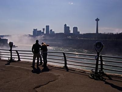 Tourist Admiring Niagara Falls