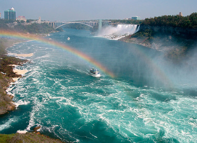 Rainbow Below Niagara Falls