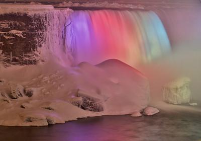 Niagara Falls at Night from Canadian Side