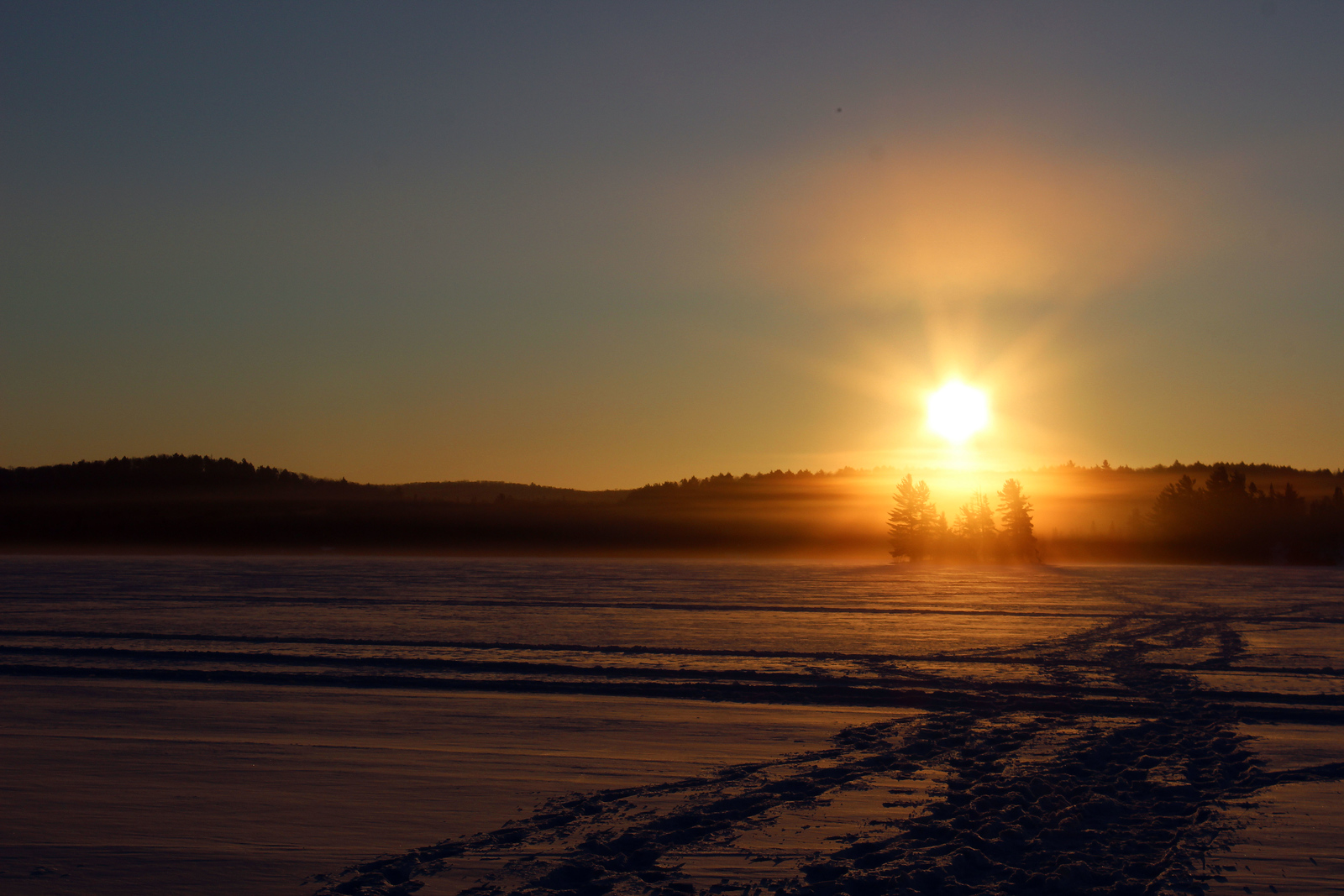 Winter outdoor adventures at Northern Edge Algonquin in Algonquin Park, Ontario, Canada.