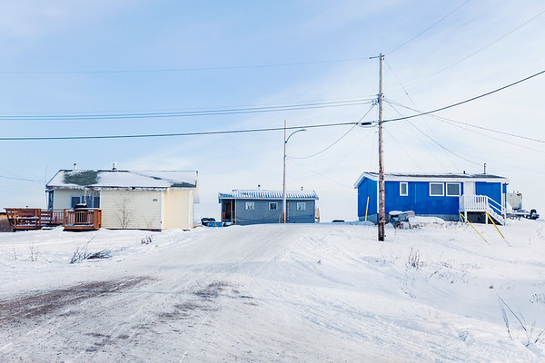 Houses in Dettah First Nations Community