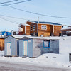 Residential area, Dettah First Nations Community close to Yellowknife