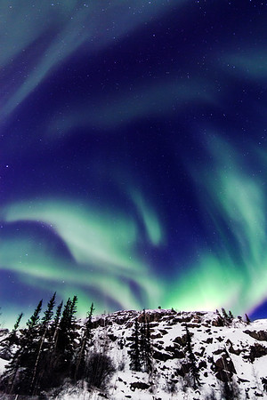 Northern Lights close to Yellownife, Northwest Territories, Canada