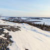 View on Old Town Yellowknife during winter / Vue sur la vieille ville de Yellowknife en hiver
