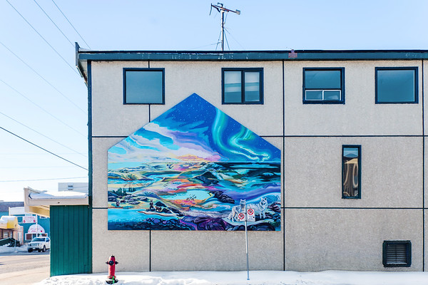Art on building in Yellowknife