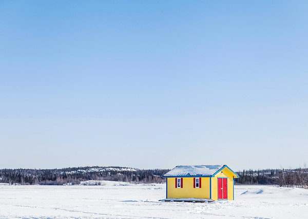Small houseboat on Great Slave Lake, Yellowknife