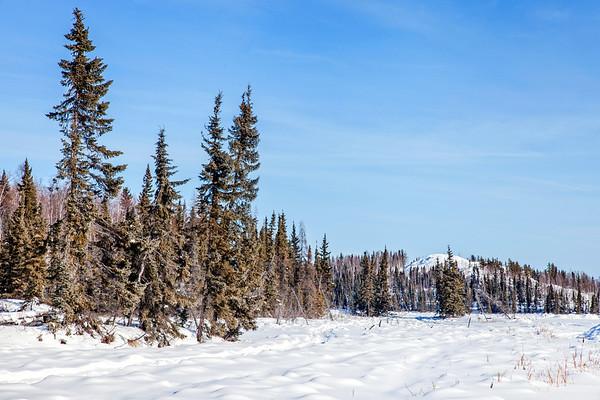 Vee Lake close to Yellowknife in Winter