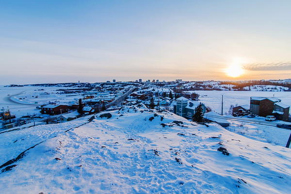 Sunset on Yellowknife / Coucher de soleil sur Yellowknife