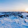 Sunset on Yellowknife / Coucher de soleil sur Yellowknife