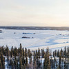 Panoramic view on Yellowknife and Great Slave Lake / Vue panoramique sur Yellowknife et Grand lac des Esclaves