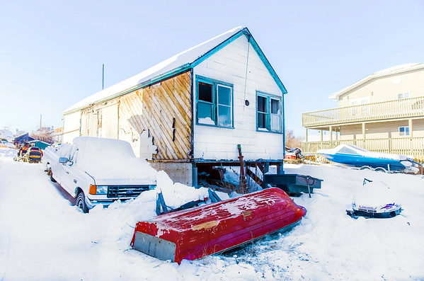 Abandoned house in Yellowknife / Maison abandonnée à Yellowknife
