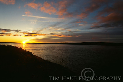 Sunrise on the Thlewiaza River, about 163 km from Hudson Bay