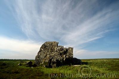 Landmark rock on the tundra along the Seal River
