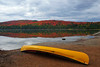 Rock Lake with yellow Canoe