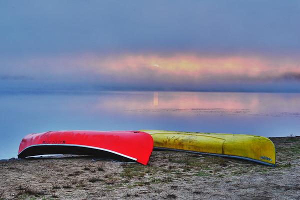 Good morning Sunrise with canoes-2