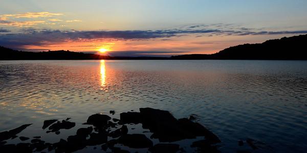 Wide Angle Sunrise on Lake Restoule