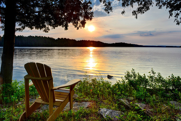 The Chair and Lake Restoule - July