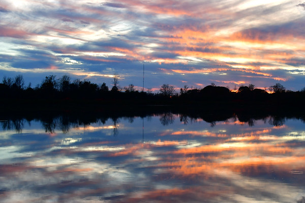 Colorful Sunset on Lake Gibson
