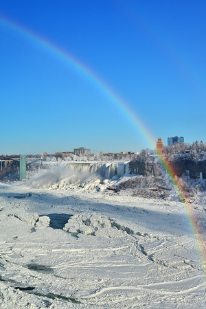 Arching Rainbow over American Falls