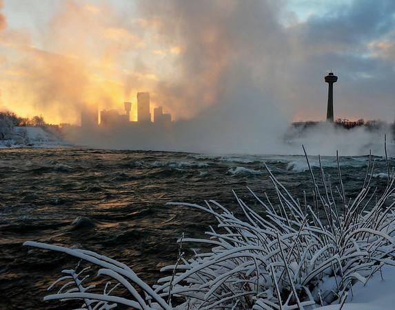 Niagara Falls on fire - 11X14