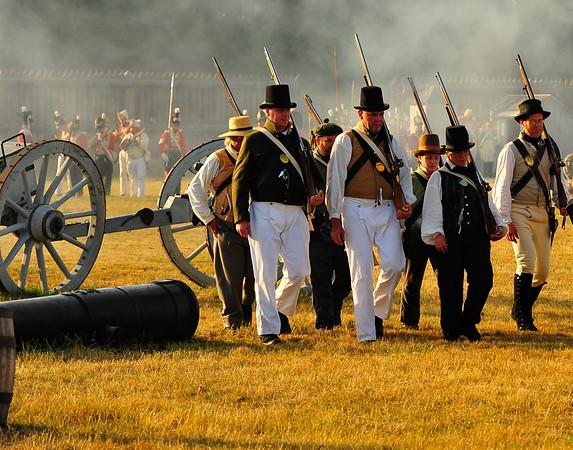American Troops retreating