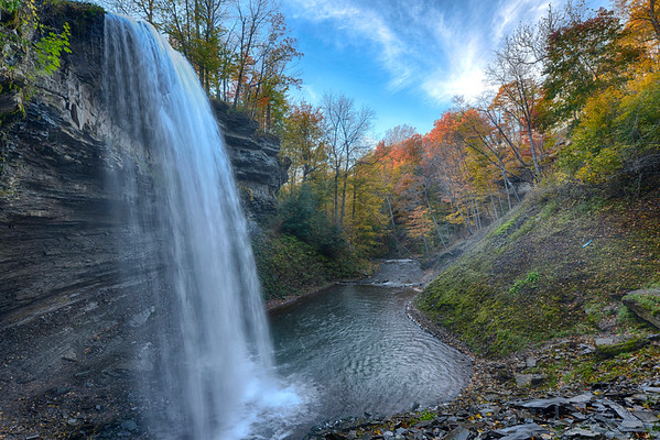 Wide angle from bottom of Decew