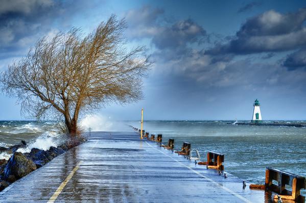 Port Dalhousie in a storm