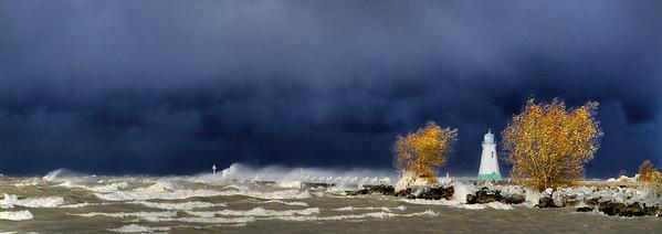 Port Pier in Winter Storm - Anderson