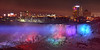 Beams of light on American Falls