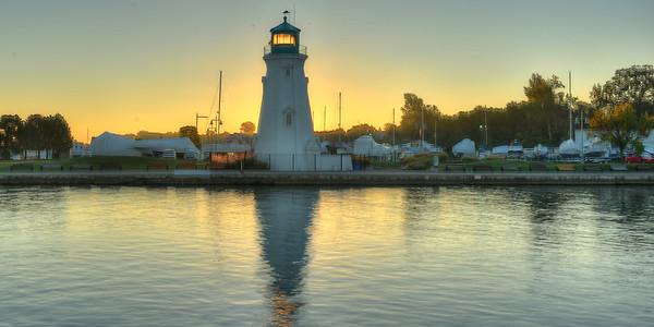 Port Lighthouse in earliy morning sun