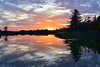 Sunset on Beaverdams Pond