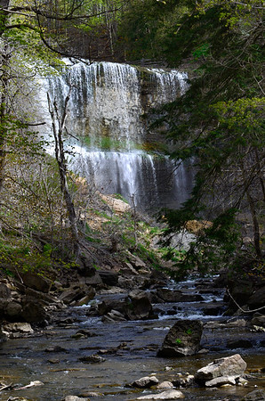 Webster Falls and river